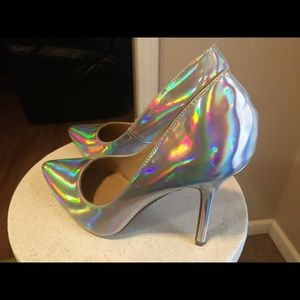Holographic heel. 8.5 NEVER worn. Offer anything